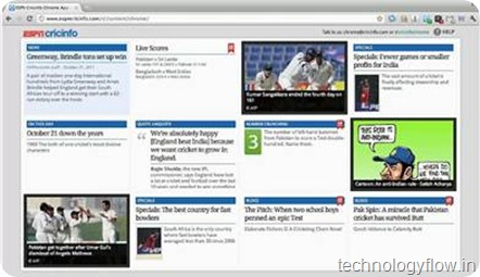 ESPN Cricinfo chrome extension