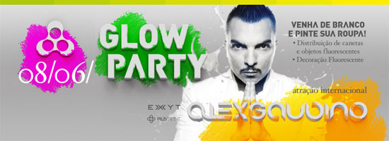 Alex Gaudino Glow Party da Anzu Club em Itu