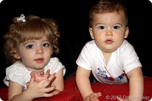 Nolan 9 months Elaine 29 months