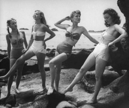 1950s swimsuits.
