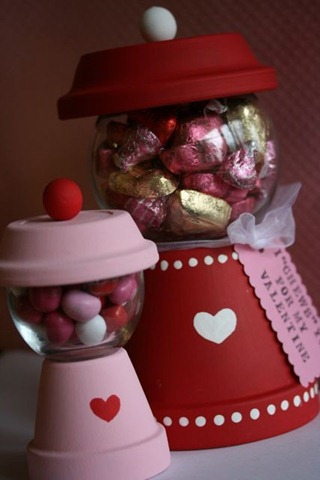 Terra cotta gumball machine valentine's day