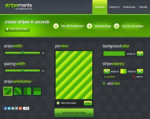 Stripe Mania, sitio web con los mejores fondos de rayas para tu página web
