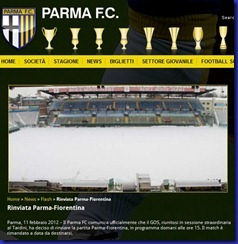 FCPARMA GOS RINVIO PARMA FIORENTINA