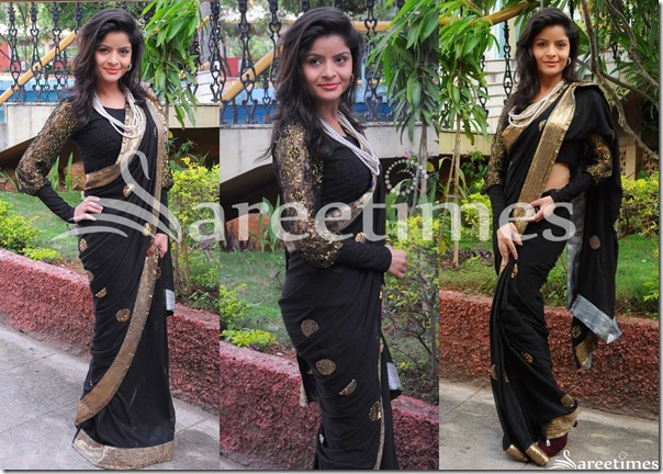 Vandana_Vasisth_Black_Saree