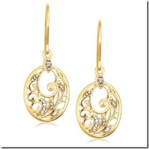 earrings with gold and platinum
