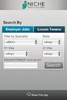 Screenshot of Niche Medical Jobs
