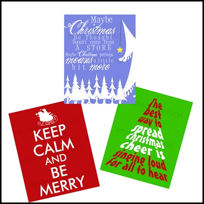 Christmas Quote Prints
