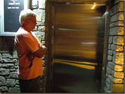 Chimney Rock, North Carolina, elevator...the easy way