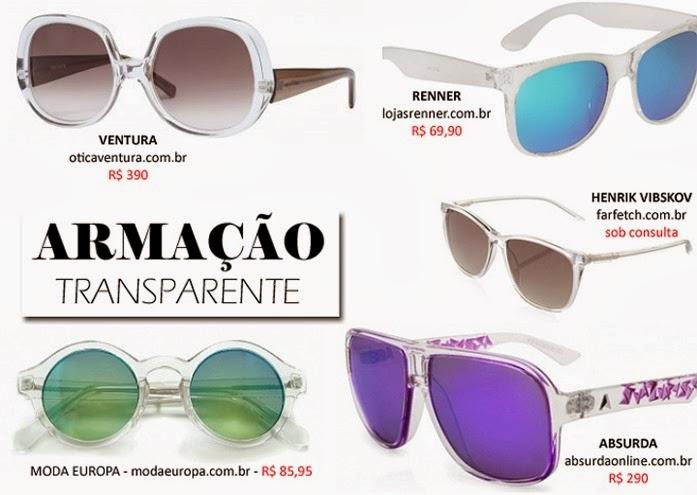 Armacao-Transparente oculos