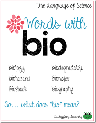Language of Science- Vocab Strategies- bio