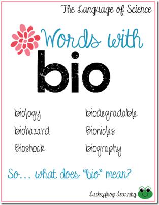 Language of Science- Vocab Strategies- bio