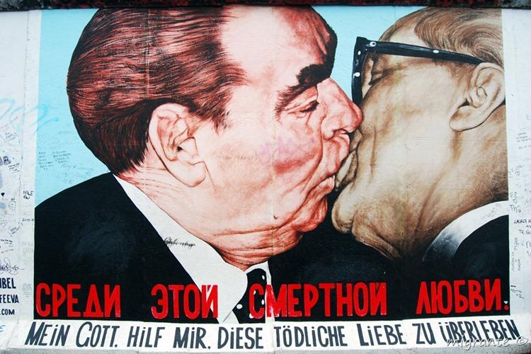 el beso - muro de berlín