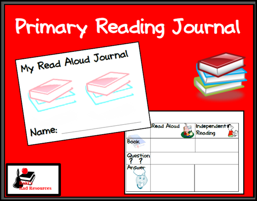 Resources to keep students reading books they enjoy while keeping them accountable for their learning.  Resources from Raki's Rad Resources - primary reading journal