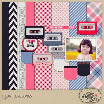 cassette tape  digiscrap kit freebie
