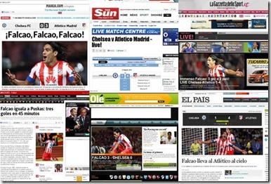 falcao portada de los diarios del mundo