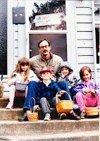 My dad with my sister and me and our family friends Noah and Hailey Throckmorten. I'm wearing the blue jacket. My parents went to college with the Throckmortens and we kids grew up like cousins.