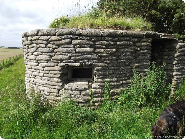 ww2 pillbox - fake concrete sandbags