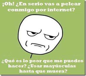pelear por internet