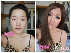 chinese girls makeup before and after  (4)