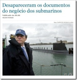 Desapareceram os documentos do negocio dos submarinos.Ago 2012