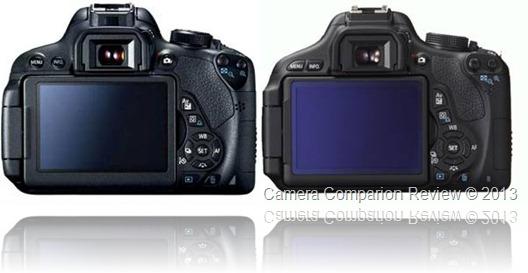 Canon 700D / T5i vs Canon 600D / T3i