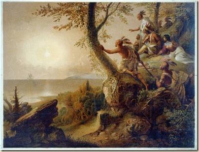 Tableau de  Colton, Zahm & Roberts d'après Chapman, Pocahontas sauvant John Smith