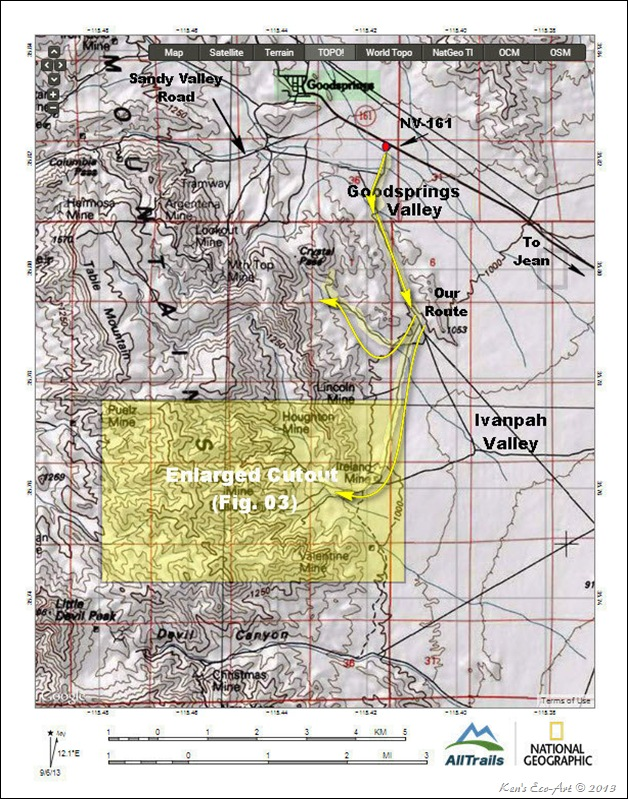 MAP-Goodsprings Mining District