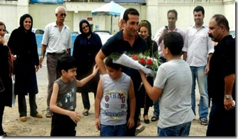 Released Nadarkhani Greets Family 9-9-12