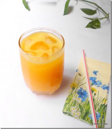 Easy orange and pear juice cooler  recipe