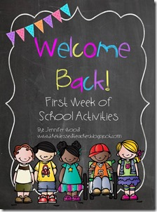 Welcome Back Pack Activities