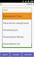Screenshot of Kids Drug Dosage Calc - PaedRx