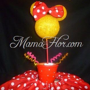 Como hacer un centro de mesa: de la Minnie