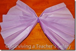 purple diy truffula tree tissue paper