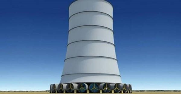 9- Torre de Energia Solar Eólica