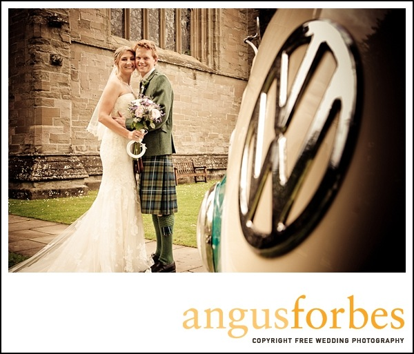 old camper van Scottish wedding Photographer dunkeld_011