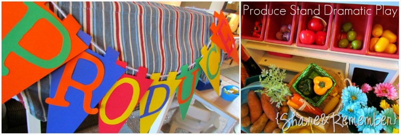 Produce Stand Dramatic Play in Preschool