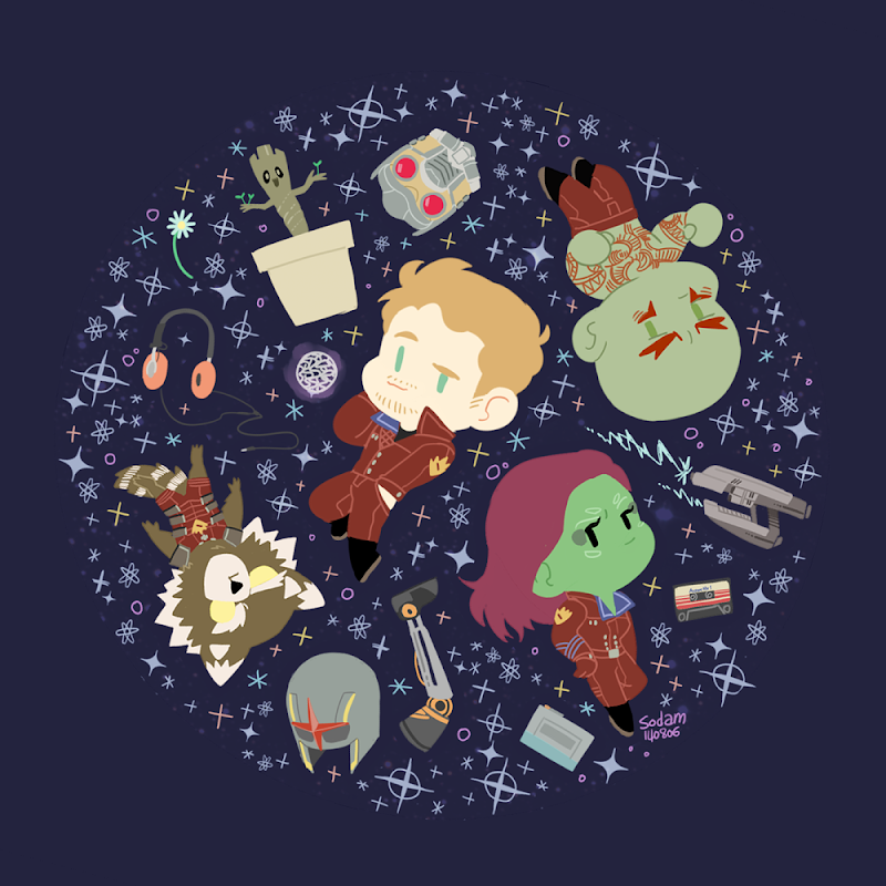 Guardians of the Galaxy Artwork by sodamu1002