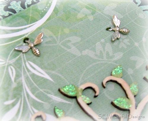 Xmas journal dragonflly closeup