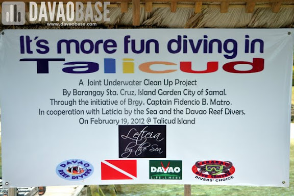 It's more fun diving in Talicud! Scubasurero underwater clean up project by Davao Reef Divers Vlub and Leticia by the Sea