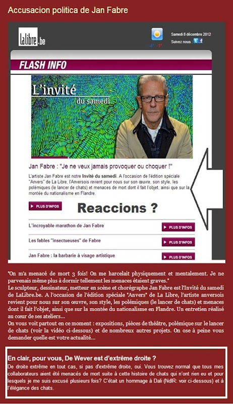 accusacion de Jan Fabre