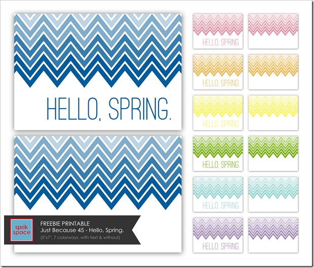 Just Because 45 - Hello, Spring. - IMAGE COLLAGE with label