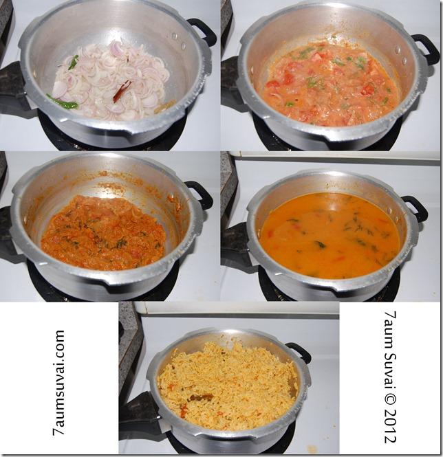 Tomato pulao_biryani process