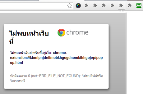 เกิดขึ้นข้อความ Error 6 (net::ERR_FILE_NOT_FOUND): The file or directory could not be found