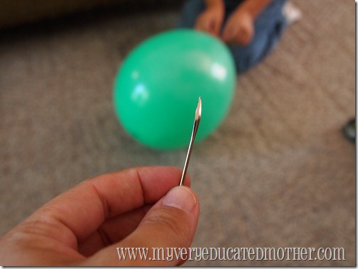 popping a balloon or recreating thunder