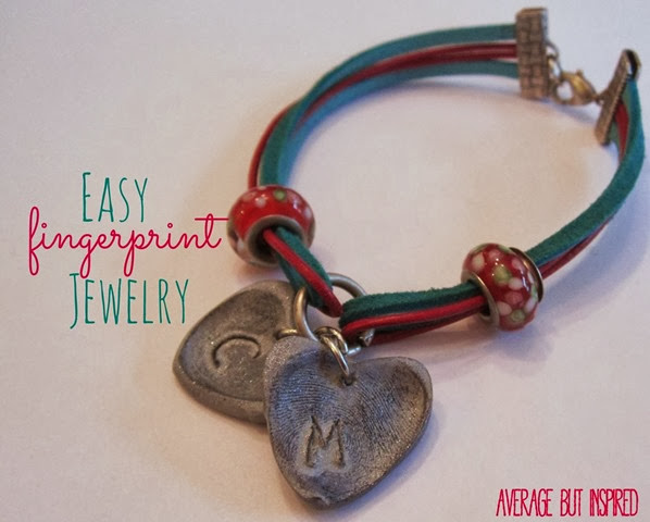 Thumbprint Heart Bracelet