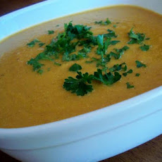 Silky Spicy Carrot Soup
