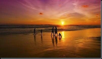 best sunset moment in beach