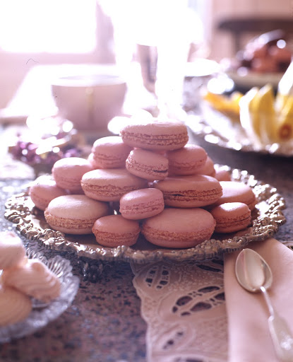 Pink macaroons from Martha's house in Maine. (Martha Stewart Living)