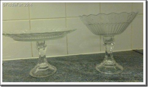 Recycled Ikea plate stand & Itu0027s All Fiddle Fart: Ikea and 99c Only Store Makeover - Glass Cake ...