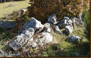 Agrupación artificial de piedras